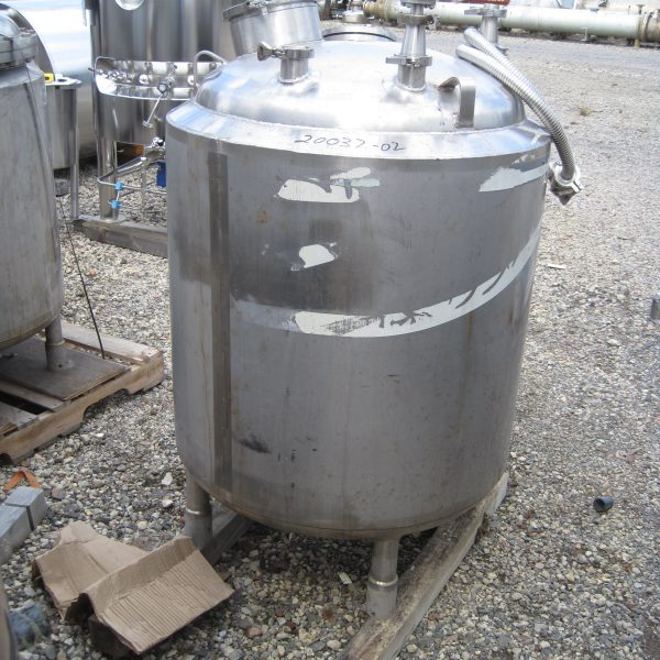 100 Gallon Stainless Steel Jacketed Tank, 30″ Dia. X 33″ Straight Side, 90 PSI