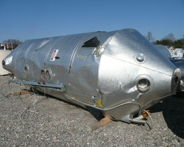6000 Lb. Piovan Stainless Steel Drying Hopper, New 1997