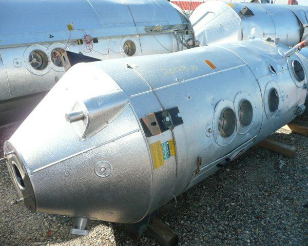1000 Lt. Piovan Model T1000IX Stainless Steel Drying Hopper