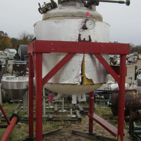 250 Gallon 25 PSI Internal, 50 PSI Jacket 316 Stainless Steel Jacketed Tank