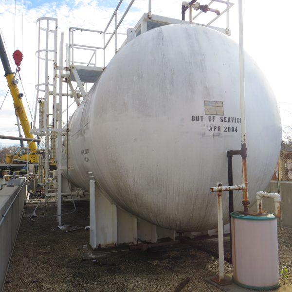 30,500 Gallon Horizontal Steel Tank, 12′ Dia. X 32′ Straight Side
