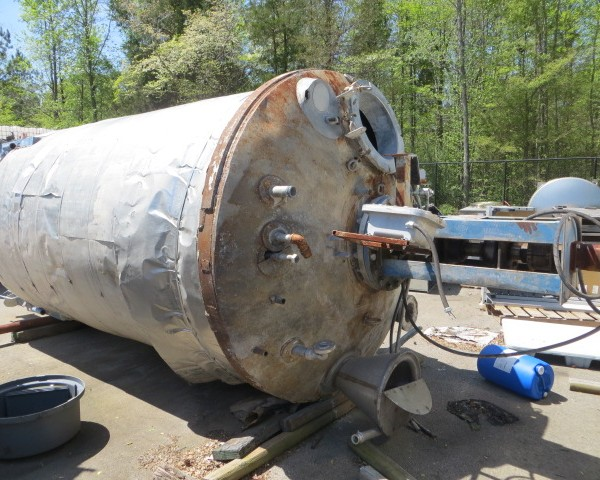 2,250 Gallon Stainless Steel Mix Tank, 6′ Dia. X 11′ Straight Side