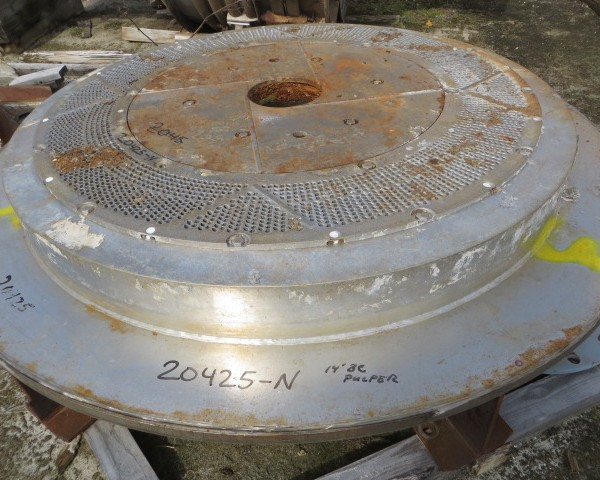 14′ Diameter Black Clawson Pulper Extraction Plate