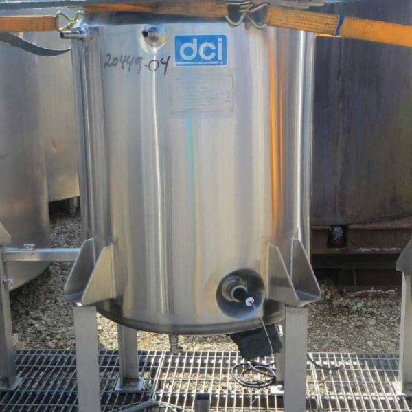 66 Gallon 45 PSI Internal, 50 PSI Jacket Stainless Steel Vessel