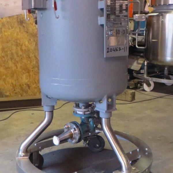 50 Gallon 100 FV Internal De Dietrich Glass Lined Reactor