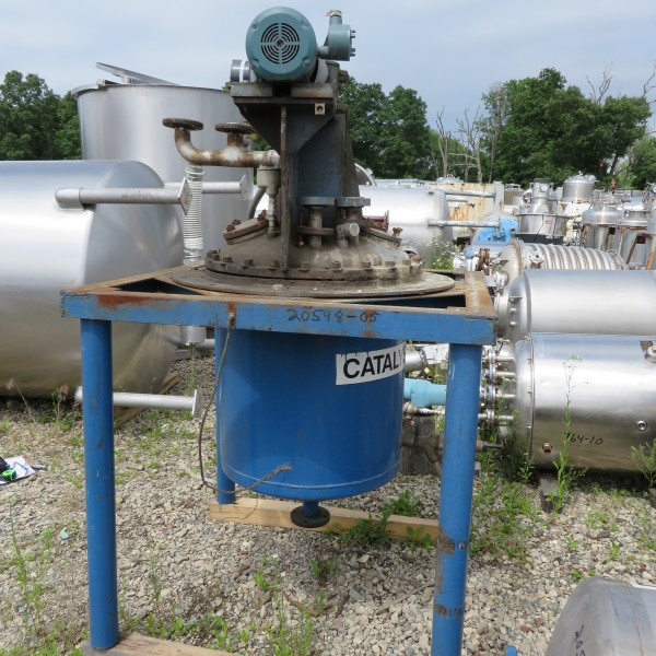 45 Gallon Stainless Steel Vertical Jacketed Tank, 2′ Dia. X 2′ Straight Side, 3/4 HP
