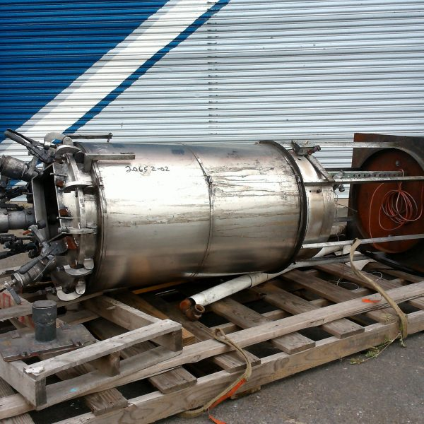 80 Gallon  Stainless Steel Agitated Vertical Tank, 2′ Dia. X 3'6″ Straight Side