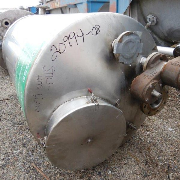 200 Gallon Stainless Steel Vertical Tank, 36″ Diameter X 57″ Straight Side