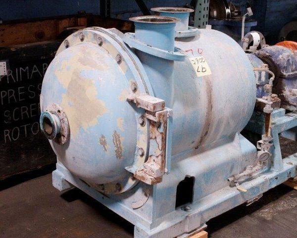 Beloit Model MR18 Horizontal Stainless Steel Pressure Screen