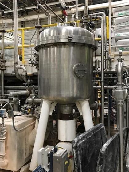 209 Sq. Foot Schenk Vertical Tank, Horizontal Leaf Pressure Leaf Filter