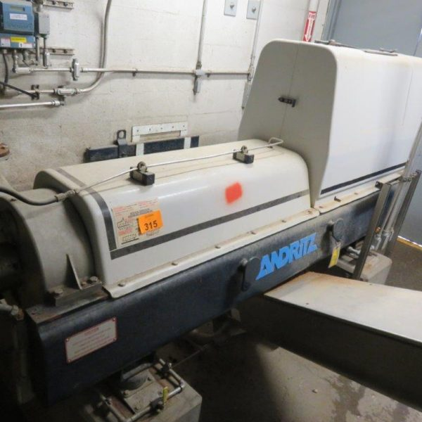 Andritz Decanter Centrifuge Mdl D3LC30CHP With Screw Conveyor