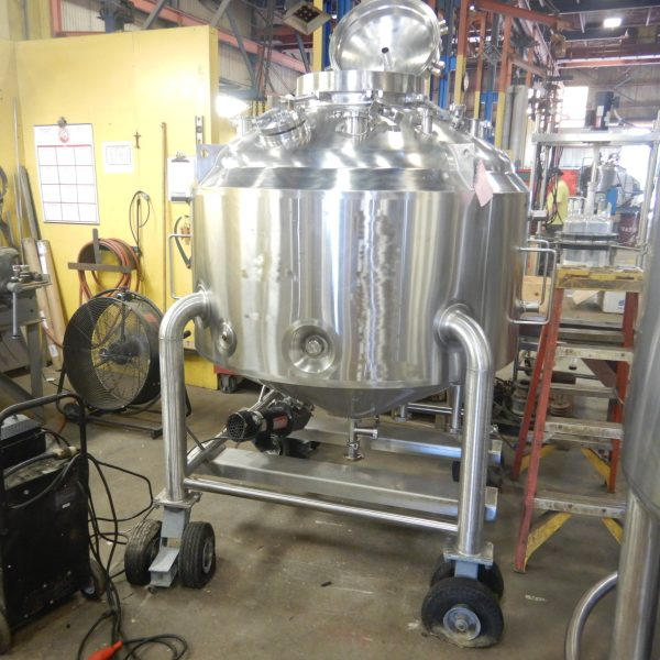 300 Gallon 100 PSI Internal, 100 PSI Jacket 316L Stainless Steel Portable Pressure Vessel/Likwifier