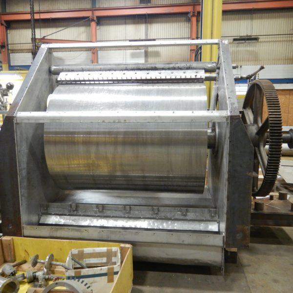 48″ x 72″ Buflovak Stainless Steel Drum Flaker