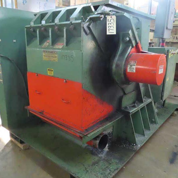 125 HP Granutec TFG3636-125 Granulator 3 Knife Open Rotor