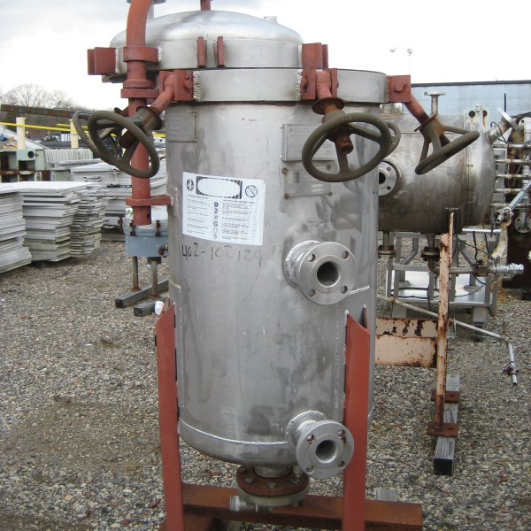 70 Sq. Foot Pemco Vertical Leaf, Vertical Tank Pressure Filter