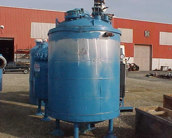 500 Gallon 55 FV Internal, 100 Jacket Dedietrich Glass Lined Reactor Body