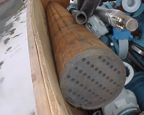 21 Sq. Ft. Pfaudler Impervite Multi-Blox Vertical Heat Exchanger