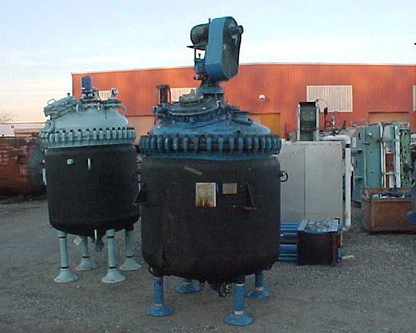 300 Gallon 25 FV Internal, 95 Jacket Pfaudler Glass Lined Reactor