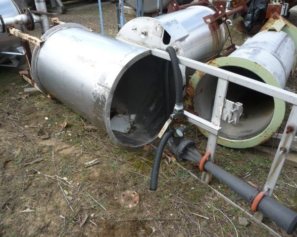 150 Gallon Stainless Steel Tank, 30″ Dia. X 48″ Straight Side