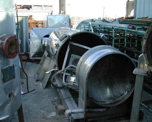 "Aeromatic Model T520419 43″ X 5'10"" Stainless Steel Fluid Bed Dryer"