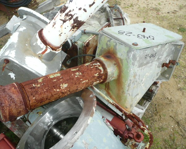 Discharge Chute for 500 Liter Welex/Papenmeier High Intensity Mixer