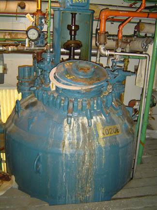 1,000 Gallon 100 FV Internal, 90 Jacket Pfaudler Glass Lined Reactor