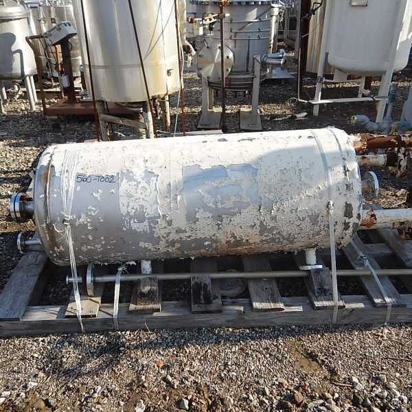 """75 Gallon Stainless Steel Vertical Tank, 1'10"""" Dia. X 4'2″ Straight Side"""