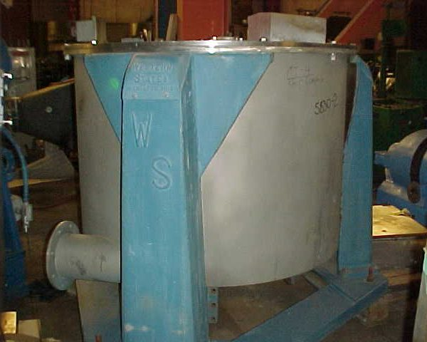 48″ X 30″ Western States 304 Stainless Steel Perforated Basket Centrifuge