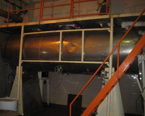 48″ X 16′ Bush Tank Fabricators 304 Stainless Steel Rotary Vacuum Dryer