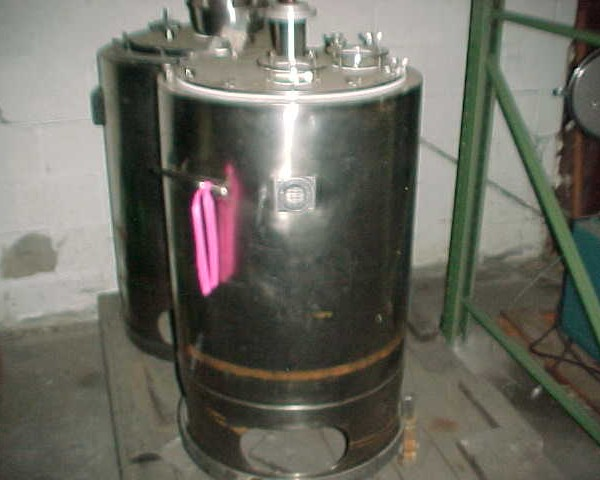 40 Gallon 316 Stainless Steel Vertical Tank, 19.5″ Dia. X 29″ Straight Height