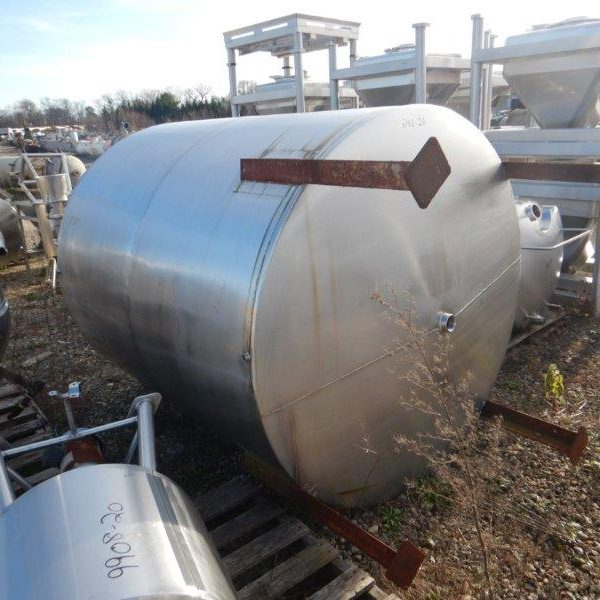 1,075 Gallon Stainless Steel Tank 4′ Dia x 6′ Straight Side Perry Mdl VC