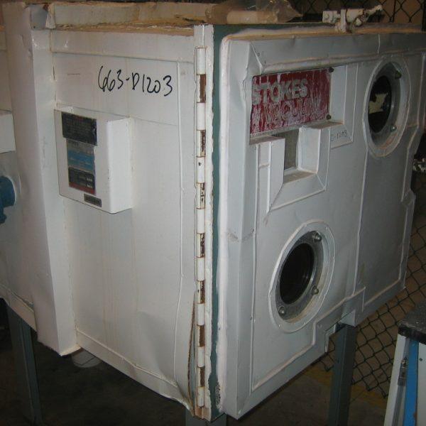 36 Sq. Foot, 6 Shelves Stokes Heresite Lined Vacuum Shelf Dryer