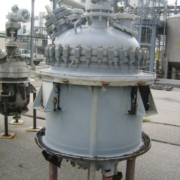 100 Gallon 150 FV Internal, 100 Jacket De Dietrich Vertical Glass Lined Reactor