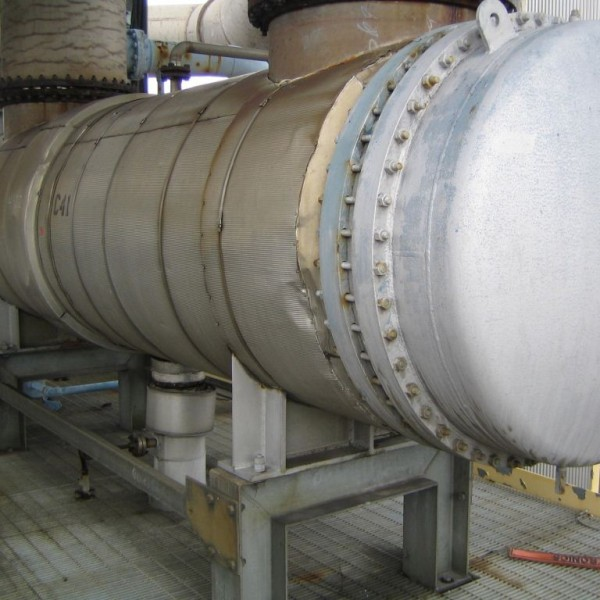 1900 Sq. Foot Vulcan Horizontal Shell and Tube Heat Exchanger