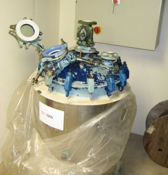 30 Gallon 30 FV Internal, 100 Jacket Pfaudler Glass Lined Reactor Body