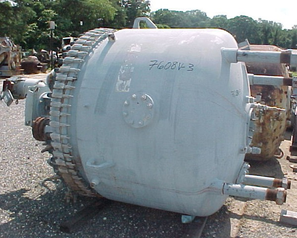 500 Gallon 75 FV Internal, 105 Jacket Dedietrich Glass Lined Reactor
