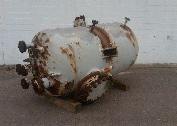 564 Gallon Carbon Steel Pressure Tank, 4′ Dia. X 6′ Straight Side