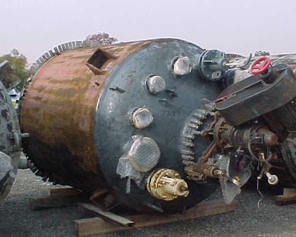2,000 Gallon 100 FV Internal, 90 Jacket Dedietrich Glass Lined Reactor