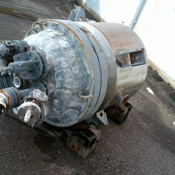 100 Gallon 150 FV Internal, 100 Jacket Dedietrich Glass Lined Reactor