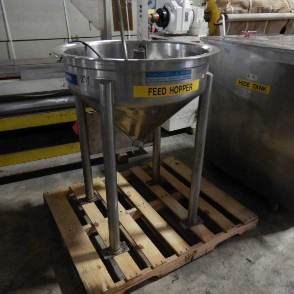 12.5 Gallon (50 Liter) Stainless Steel Feed Hopper