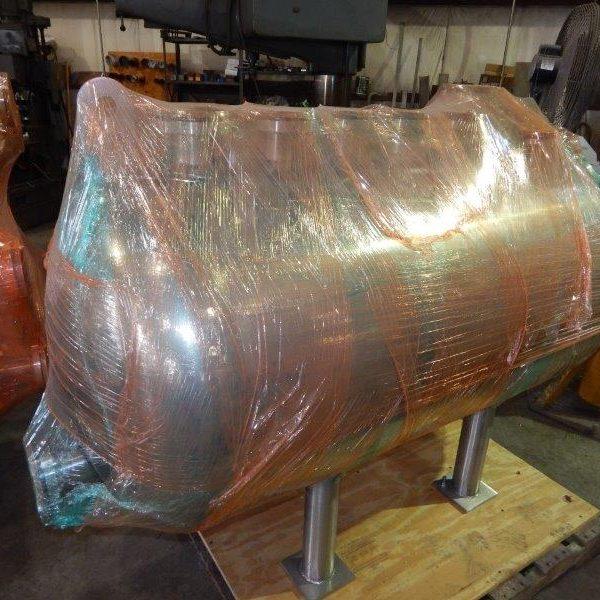 100 Gallon Hastelloy C22 Horizontal Full Vacuum Tank, Unused and New in 2019