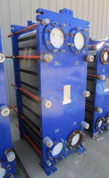 429 Sq. Ft. Alfa Laval 316 Stainless Steel Plate Heat Exchanger Unused