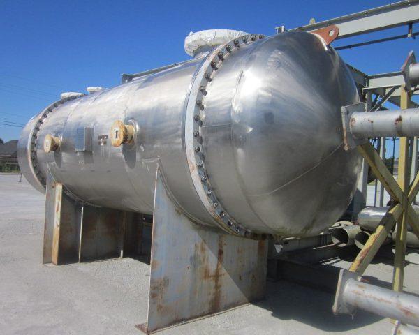 8828 Sq. Foot Praj Ind. Horizontal Shell and Tube Heat Exchanger Unused