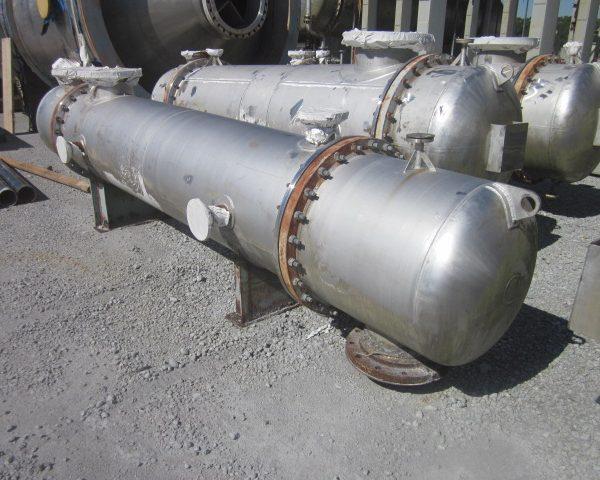580 Sq. Ft. Praj Ind. Horizonal Shell and Tube Heat Exchanger Unused