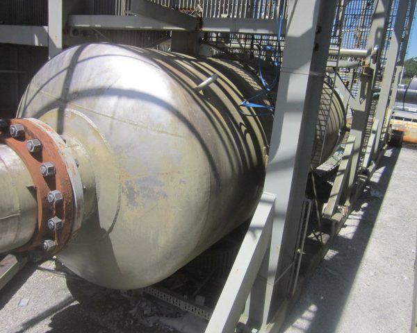 1393 Gal Praj Ind Vertical 304L Stainless Steel Pressure Vessel Unused