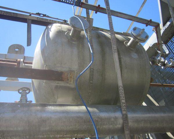 264 Gallon Praj Ind Vertical 304L Stainless Steel Pressure Vessel Unused