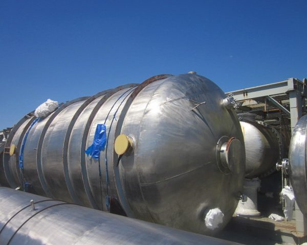 18,766 Gallon 316 Stainless Steel Pressure Vessel, 11'9″ X 20′ Straight Side, Unused