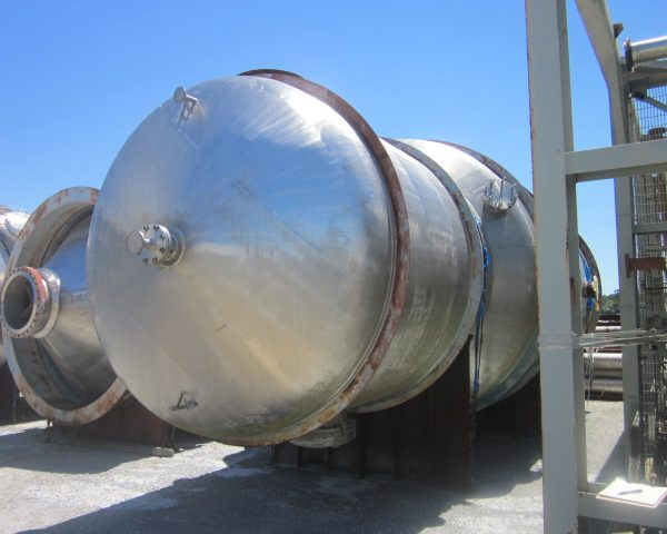 15,862 Gal 316 Stainless Steel Pressure Vessel, 11'8″ Dia. X 16'6″ Straight Side, Unused