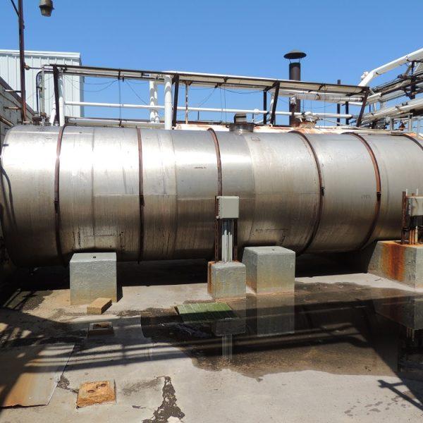 8,200 Gallon Stainless Steel Horizontal Tank