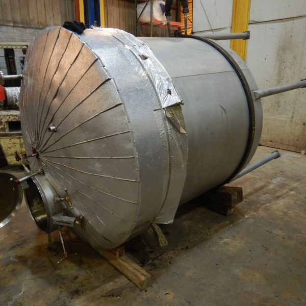 1000 Gallon Stainless Steel Tank 5'5″ Dia. X 5'3″ Straight Side